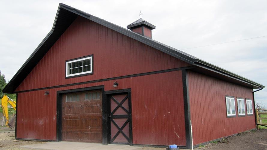 Post frame barns in Alberta, BC, Saskatchewan