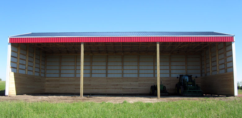 Post frame hay shed in Alberta, BC, Saskatchewan