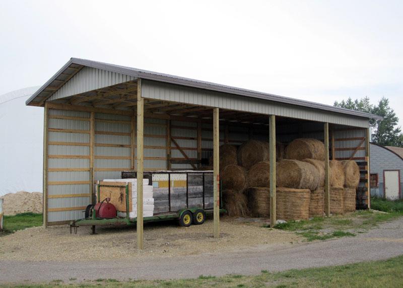 Post Frame Hay Shed In Alberta Bc Saskatchewan