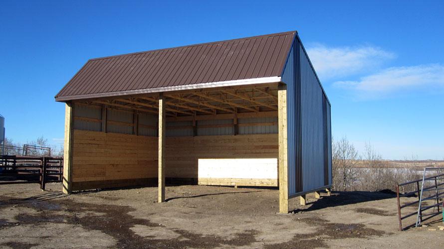 how to build a livestock shelter