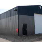 Industrial post frame building